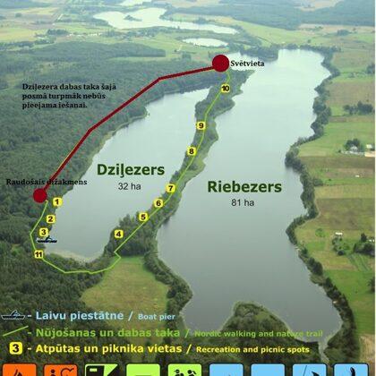 Turpmāk Dziļezera dabas taka būs pieejama līdz Svētvietai ezera tālākajā galā.